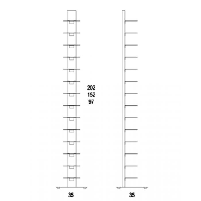H 97 cm libreria sapiens for Sedie design libreria sapiens