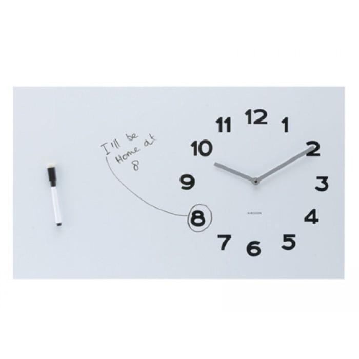 Orologio lavagna da muro pure white board for Lavagna con orologio thun